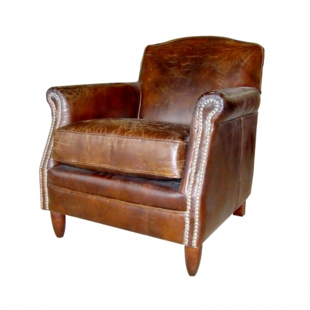Leather Upholstered Accent Chair - Furniture Sale | Large